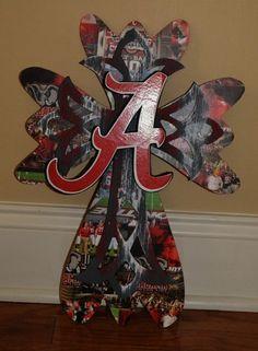 Alabama Crimson Tide decorative wall hanging cross
