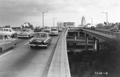 Hollywood Freeway, Los Angeles, California 1953