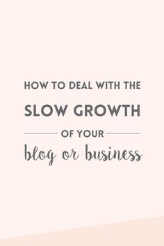 The slow growth of a blog or business is something that happens to many of us, but we rarely talk about it. Read about how I'm trying to overcome this. Content Marketing, Marketing Digital, Business Marketing, Internet Marketing, Affiliate Marketing, Media Marketing, Make Money Blogging, Blogging Ideas, Business Advice