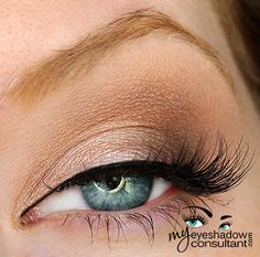 http://myeyeshadowconsultant.com: Naked Lunch (on lid, below crease) Mystery (outer corner of eye) Saddle (crease) Blanc Type (blend)