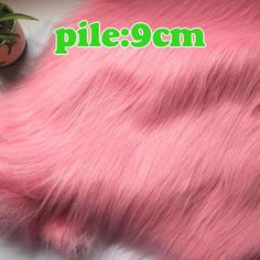 Pink, SHAGGY FAUX FUR FABRIC (LONG PILE FUR),costumes, photography backdrops BTY