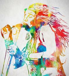 Janis Joplin Singing Painting by Dan Sproul