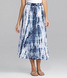 Westbound Tie-Dye Mid-Calf Skirt   Dillards.com