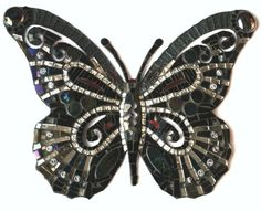 Black Lacey Butterfly***
