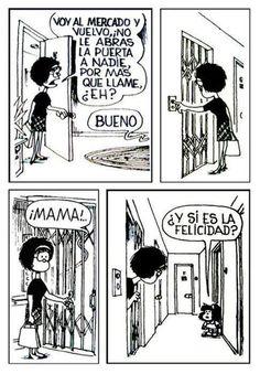 mafalda by jerry Bd Comics, Funny Comics, Mafalda Comic, Mafalda Quotes, Frases Humor, Humor Grafico, Amazing Adventures, More Than Words, Happy Thoughts