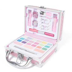 Claire's Glitter Travel Case Makeup Set – Pink – Famous Last Words Claire's Makeup, Cute Makeup, Makeup Cosmetics, Makeup Sets, Makeup Kit For Kids, Kids Makeup, Teenage Makeup, Makeup Kits For Tweens, Claire's Accessories