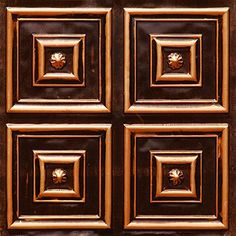 Affordable Ceiling Tile #112 Antique Copper Modern 2x2 Glue up Fire Rated. Plastic Vinyl Ceiling Tile http://www.amazon.com/dp/B00B86F5J6/ref=cm_sw_r_pi_dp_nr4mwb0KT03CG