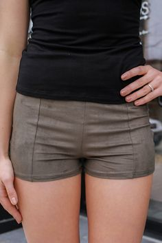 High Waisted Faux Suede Hidden Zipper Shorts – UOIOnline.com: Women's Clothing Boutique