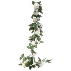Silk Cream Rose Garland Party Decoration for Hen Party, Baby Shower or Wedding Venue Decor Green Garland, Rose Garland, Light Garland, Floral Garland, Flower Garlands, Party Garland, Balloon Garland, Balloon Decorations, Flower Decorations