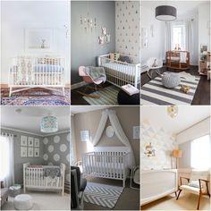 Quartos de bebê bem decorados minimalista clean pintura parede