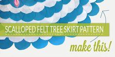 Scalloped Felt Tree Skirt Pattern