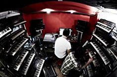 Synth, Arnaud Rebotini, Yan Wagner, Home Studio,