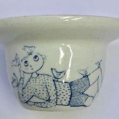 4-Vintage-GUSTAVSBERG-Sweden-STIG-LINDBERG-SAGOLAND-Small-2-5-034-Ring-Dish-Pottery Stig Lindberg, Ring Dish, Sweden, Pottery, Dishes, Mugs, Tableware, Vintage, Ebay