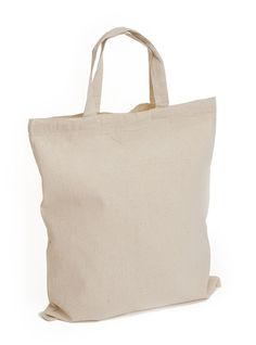 Design Your Own - Deluxe Natural Canvas Tote Bag (Short Handles ...
