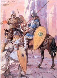 Angus Mc Bride - Guerreros bizantinos - Siglos XII-XIII