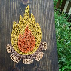 This adorable campfire is a perfect addition to a woodland nursery, playroom, or bedroom ... or would also make a great gift! This listing