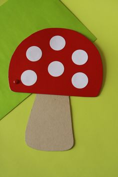 Toadstool Invitation.  Using for promise craft.