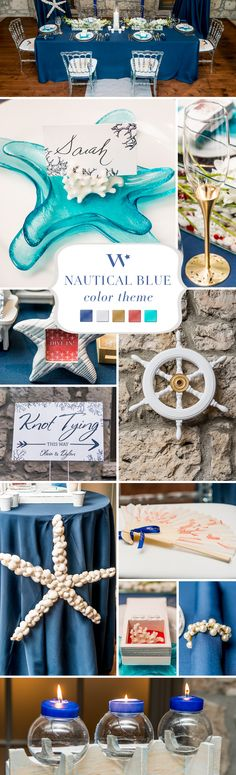"Blue wedding color inspiration .Something old, something new, something borrowed, something blue. No matter your chosen theme, the tradition of ""something blue"" is still an important part of weddings today. And whether subtle, bold or bright, this versatile color can easily be worked in to any wedding theme."