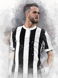 61 x Midfielder Miralem Pjanić on Museum-quality poster with vivid print made on thick and durable Football Wallpaper, Bosnia, Cristiano Ronaldo, Messi, Art Print, Digital, Trending Outfits, Vintage, Collection