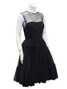 [vintagecouture.com] - Black Lace Dress