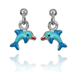Sterling Silver Dolphin Dance Earrings - Cloelle Designs Production -- ADORABLE! Sterling Silver Jewelry, Dance, Christmas Ornaments, Holiday Decor, Earrings, Design, Dancing, Stud Earrings, Christmas Jewelry