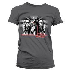 Moda Wars 7 Captain Geek T Episode Girly Shirt Star Phasma Dames donkergrijs vZOq4Ow