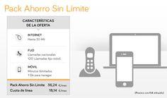 Contratando la ADSL de Jazztel, el móvil te sale más a precio. Aquí puedes mirar las características del Pack Ahorro Sin Límite.