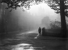 A foggy day in Lincoln's Inn, London, 1932  From General Photographic Agency/Getty Images