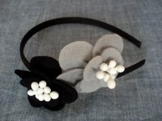 Felt headband with flowers