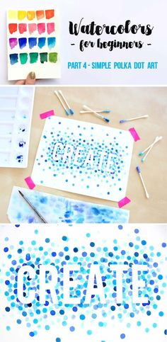 DIY Polka Dot Crafts and Projects - DIY Water Color Polka Dot Art - Cool Clothes, Room and Home Decor, Wall Art, Mason Jars and Party Ideas, Canvas, Fabric and Paint Project Tutorials - Fun Craft Ideas for Teens, Kids and Adults Make Awesome DIY Gifts