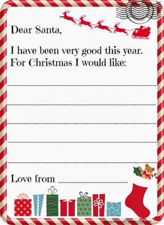 how to write a letter to santa ks1