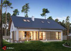 E-173 - E-DOMY.pl Projekty domów jednorodzinnych, piętrowych, energooszczędnych.