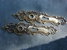 Two old Vintage Solid Brass Bronze Decorative Door by Luckytage