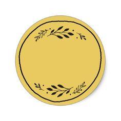 Shop Jar / Spice Blank Sticker Label III created by mistyqe. Candle Labels, Jar Labels, Packaging Stickers, Packaging Ideas, Round Logo Design, Blank Labels, Vintage Fonts, Logo Food, Label Design