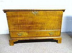Small Tiger Maple Blanket Chest