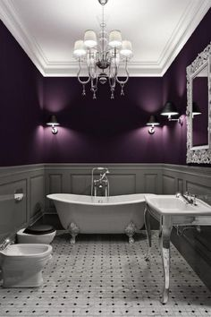 Amazing Color!  Love the wall treatments too!  The wall lights are fabulous accents!
