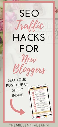 As Bloggers, we all know or at least have heard that SEO is extremely important to blogging. SEO or Search Engine Optimization is pretty much where you set your blog up to be found 'organically' (via google search). Grab my SEO Cheat Sheet to start optimizing your site today! Make Money Blogging, Content Marketing, Social Media Marketing, SEO Traffic, SEO Hacks, SEO for Bloggers, Passive Income