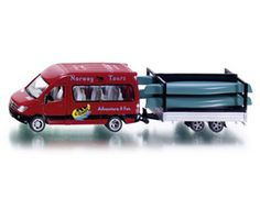 The 1/50 Mercedes Sprinter with Canoe Trailer from the Siku Super Series - Discounts on all Siku Diecast Models at Wonderland Models.    One of our favourite models in the Siku Super Series Road Transport range is the Siku Mercedes Sprinter with Canoe Trailer.    Siku manufacture wonderful, amazingly accurate and detailed diecast models of all sorts of vehicles, particularly road vehicles including this Mercedes Sprinter with Canoe Trailer.