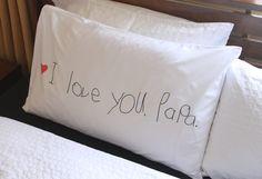 'I Love You' Pillowcase {a simple handmade gift}