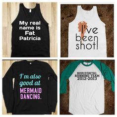 Pitch perfect shirts, I would like to own the Mermaid Dancing one. Please and thank you.