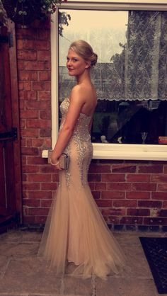 Hot Sale Beading Prom Dress,Charming Prom Gowns, Merimaid