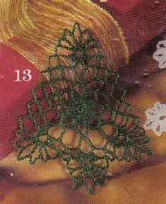 free crochet Christmas Tree Ornaments pattern