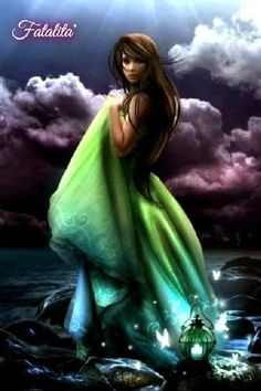 Serenity - Fantasy Art, Relaxing Music, Short Story: So often we are afraid to take even a small new step, afraid of change. Magical Creatures, Fantasy Creatures, Beautiful Creatures, Fantasy World, Fantasy Art, Lady Fantasy, Water Fairy, Mystery, Gothic