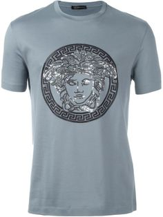VERSACE Classic Medusa Sequin T-Shirt. #versace #cloth #t-shirt