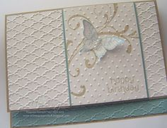 Stampin' Up!  butterfly, embossing folders