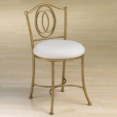 Hillsdale Furniture 50945 Emerson Vanity Stool, Golden Bronze