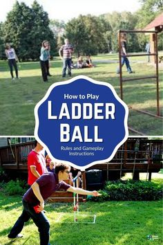 Ladder Ball rules are quite easy to follow. In this guide we will quickly walk you through them while dropping in a few helpful tips making it easier for you. Learn the rules today with this easy guide. #games #groupgames #ladderball #outdoorgames #kidsgames #familygames ladder ball diy   ladder ball game diy   ladder ball diy how to make   ladder ball rules   homemade ladder ball   ladder ball game   wooden ladder ball   ladder ball score board Outdoor Games For Preschoolers, Outdoor Games To Play, Games To Play Outside, Outdoor Games For Kids, Preschool Games, Games For Toddlers, Group Games For Teenagers, Youth Group Games, Family Games