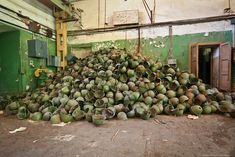 abandoned Moscow artillery armament warehouse
