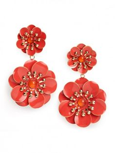 Double Zinnia Drops from Bauble Bar