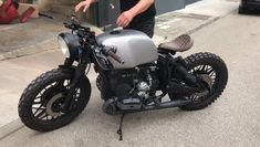 The sound of a BMW R100 scrambler cafe racer built by Lord Drake Kustoms